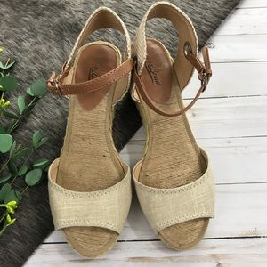 • Lucky Brand • Wedge Sandals Ankle Strap